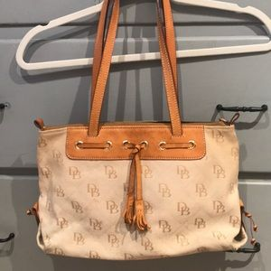 Dooney & Bourke canvas and leather bag